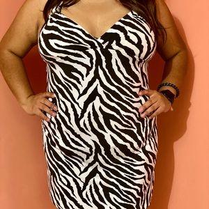 HeartSoul Animal print brown dress